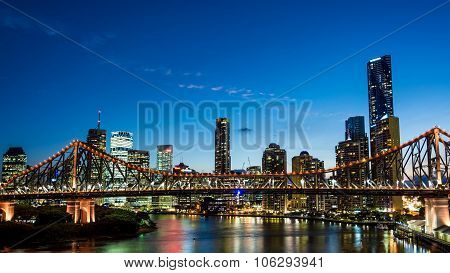 Brisbane, Australia Circa May 2014: The Skyline Of Brisbane