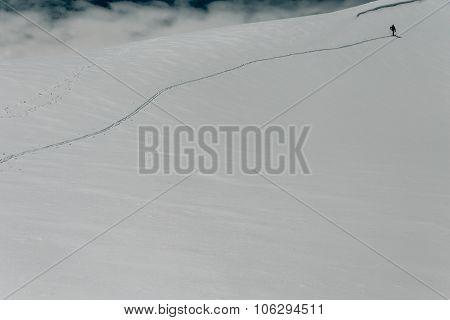 Skier On The Ridge
