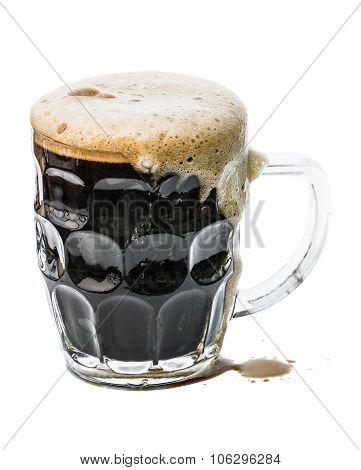 Dark Beer On White
