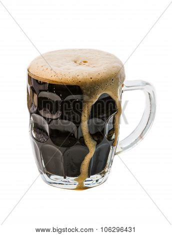 Dark Beer On White