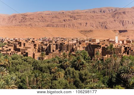 View Over A City Near The Moroccan Desert