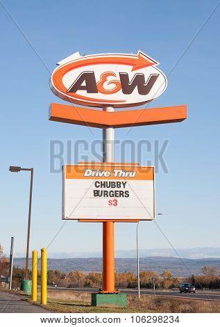A&w Restaurant Sign