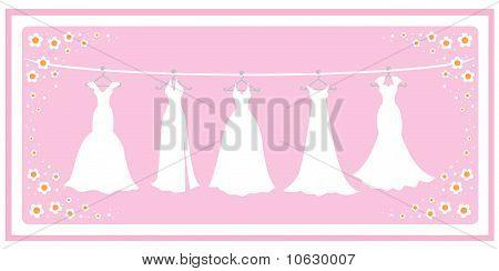Wedding dresses card