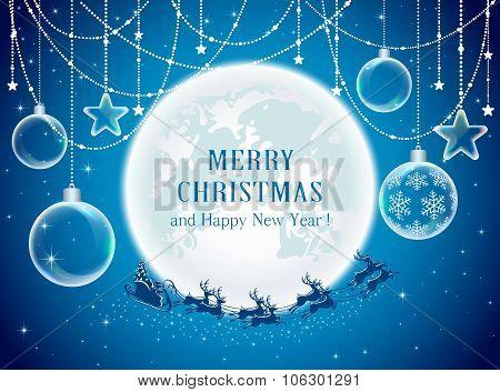 Christmas Balls And Santa