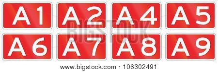 Collection Of Dutch Road Shields Of Motorways