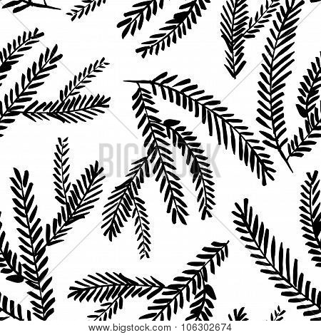 Seamless Pattern With Branches.