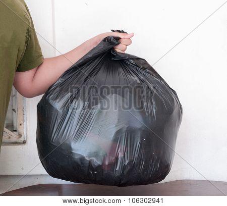 Garbage Bag, Black For Trash.