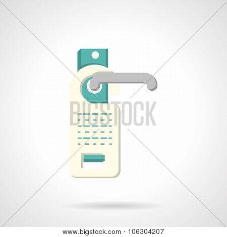 Do not disturb sign flat vector icon