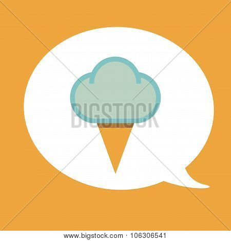 Icon ice cream isolated on white background
