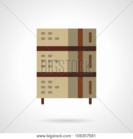 Professional stove flat color vector icon.