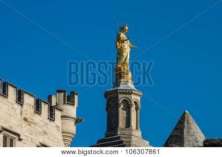 Statue Of Virgin Mary. Avignon, France