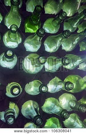 green bottles at Bottle House, Prince Edward Island