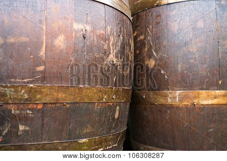 Wine barrels. Color image
