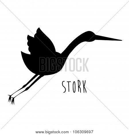 Cute Stork Design