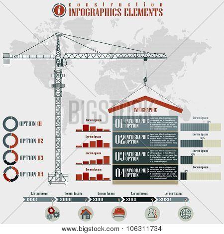 Construction  Infographics elements