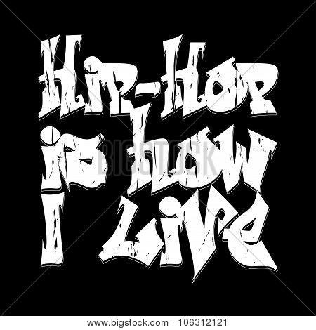 Hip-hop style emblem, T-shirt Design.