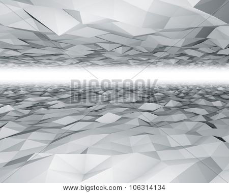 Abstract 3D polygon surfaces background.