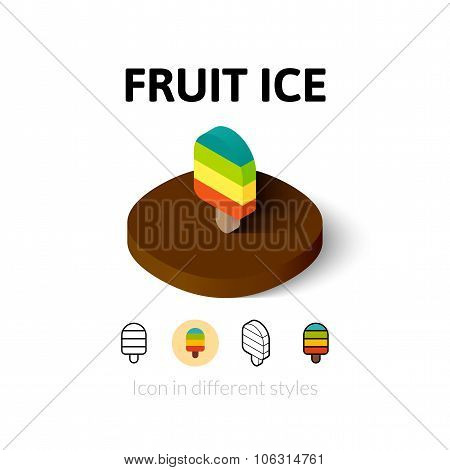 Fruit ice icon in different style