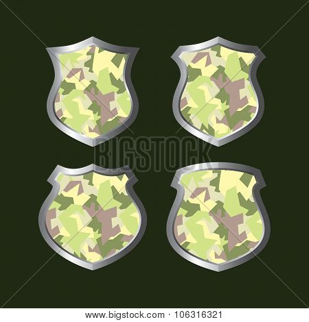 Army Camouflage Shield