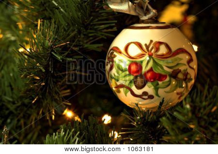 Christmas Tree Ornament On Tree