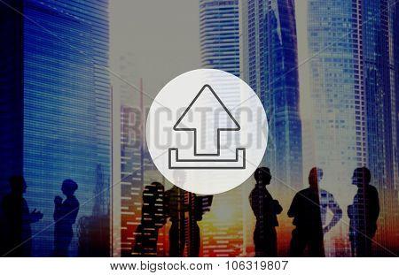 Uploading Upload Interface Technology Storage Concept