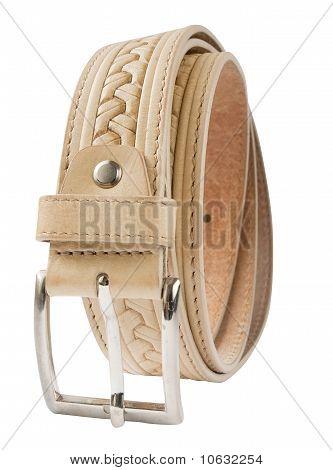 leather belt isolated