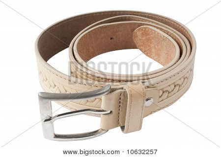 leather belt isolated