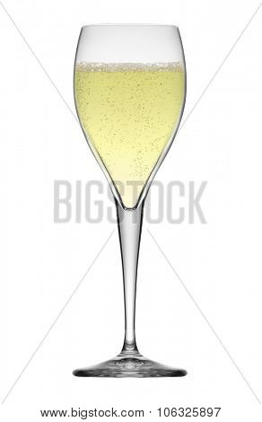 glass of white wine isolated on white