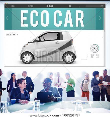 Eco Car Electrical Energy Fuel Hybrid Innovation Plug Concept