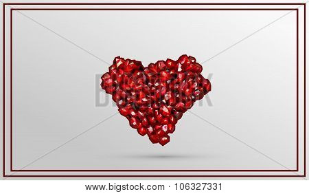 heart made from precious stones