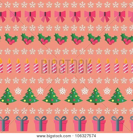 Abstract Christmas and New Year Seamles Pattern Background. Vect