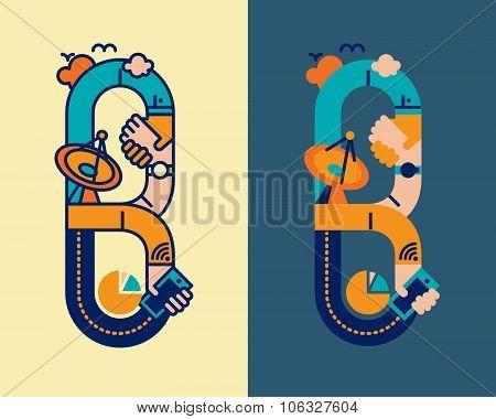 fonticon typeface - B