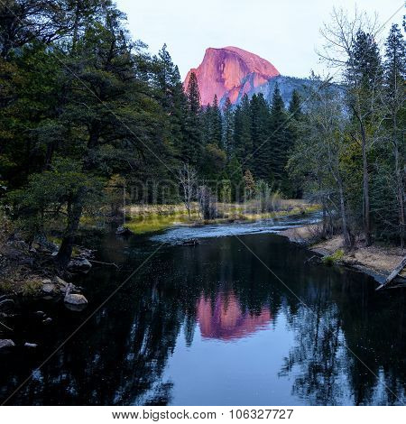 Half Dome During Sunset At Yosemite National Park