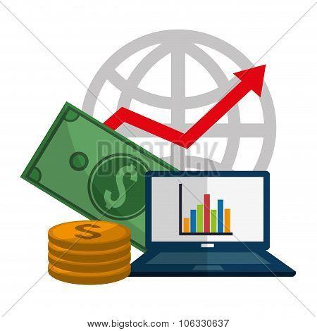Profit icons design