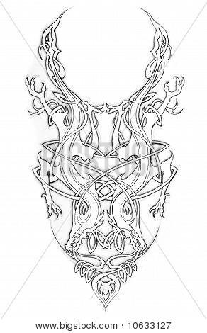 Sketch Of Tatto Art, Celtic Design