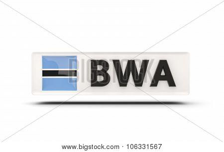 Square Icon With Flag Of Botswana
