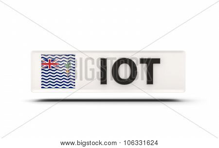Square Icon With Flag Of British Indian Ocean Territory