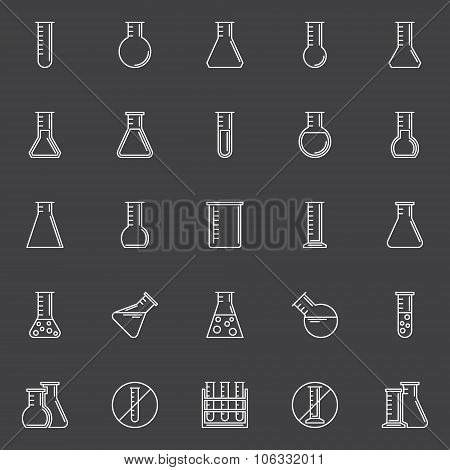 Chemical test-tube icons
