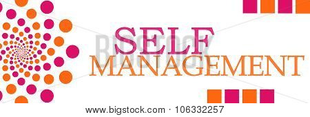 Self Management Pink Orange Dots Horizontal