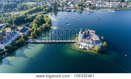 Castle Ort, Gmunden, View From The air