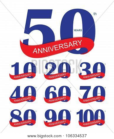 Template Logo 30th Anniversary Vector Illustration