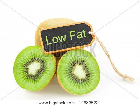Kiwi Fruit Low Fat Concept.