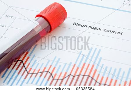 Sample Blood For Screening Diabetic Test.