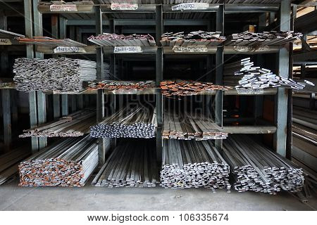 Metal Slat In Warehouse