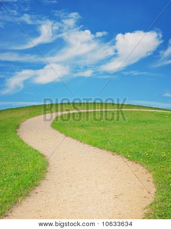 Winding Footpath