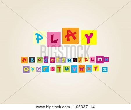 Fun and Cute paper cut font