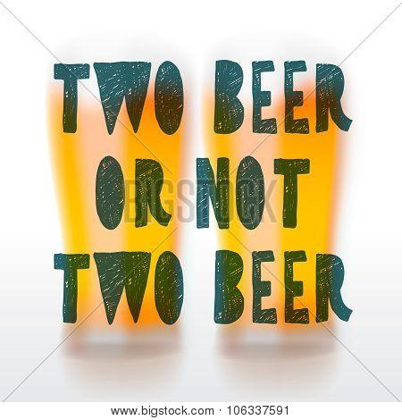 Drink beer poster