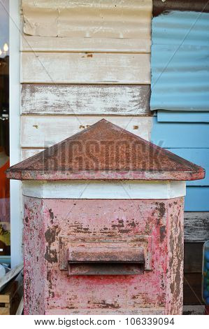 old wood mailbox