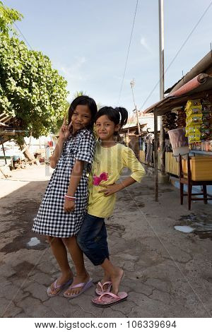 Indonesian Girls In Manado Shantytown