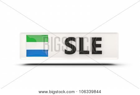 Square Icon With Flag Of Sierra Leone